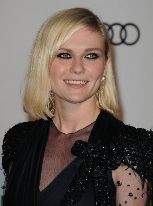 Kirsten-Dunst-Mid-Length-Bob-Hairstyle-for-Round-Faces2 Popular Short Hairstyles for Women 2019