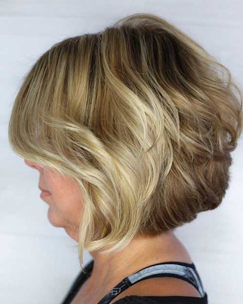 Layered-Bob-for-Fine-Hair-Over-50 Best Short Layered Haircuts for Women Over 50