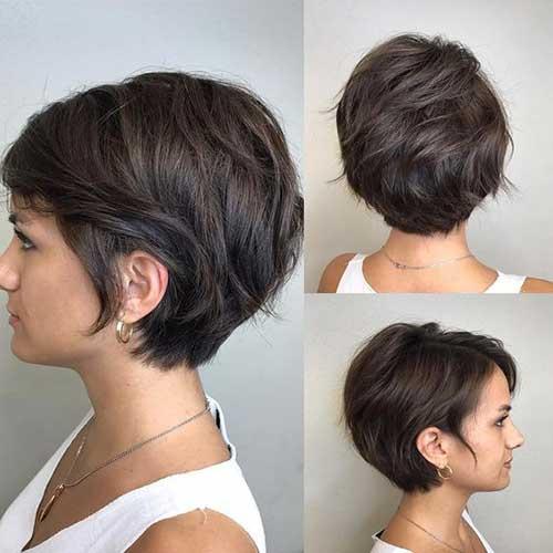 Layered-Short-Hairstyle Latest Short Bob Haircuts for Women
