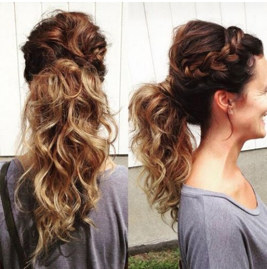 Messy-Side-Braid-Ponytail Cute French Braid Hairstyles for Girls
