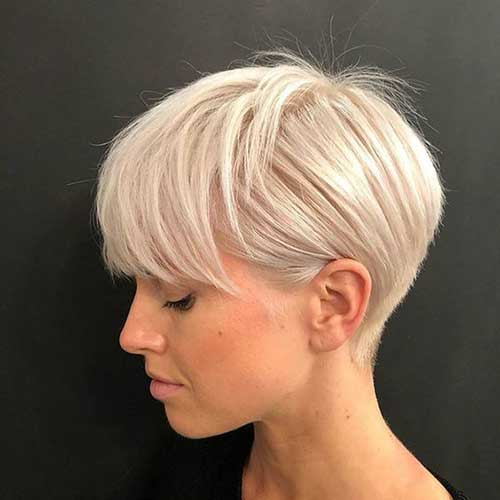Modern-Short-Blonde-Hairstyle Modern Short Blonde Hairstyles for Ladies