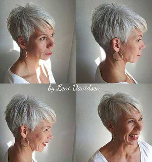Natural-White-Fine-Hair Short Hairstyles for Older Women with Thin Hair
