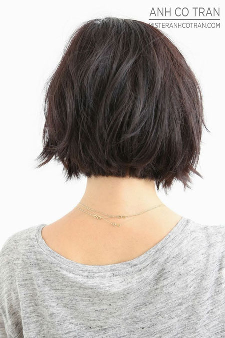 Nice-Messy-Back-View-of-a-Lovely-Bob-Hair Best Bob Hairstyles 2019