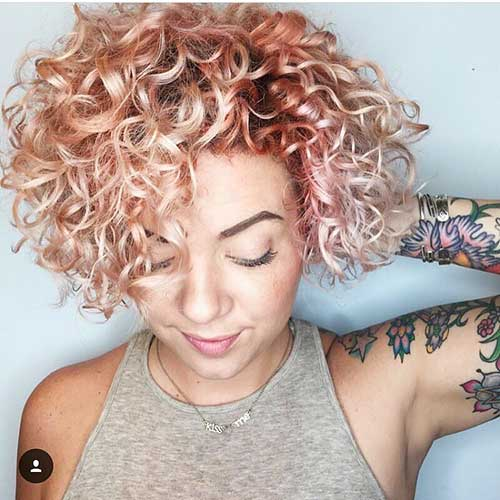 Nice-Rosey-Pink-Short-Curly-Hair Alluring Short Curly Hair Ideas for Summertime