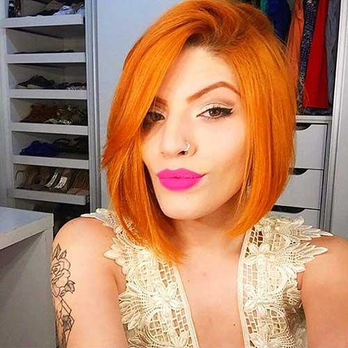 Orange-Red-Bob-Hair Eye-Catching Short Red Hair Ideas to Try