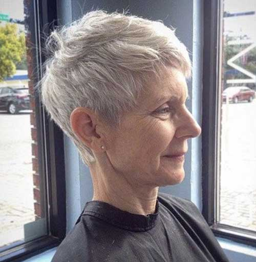 Pixie-Crop-Haircut Short Hairstyles for Older Women with Thin Hair