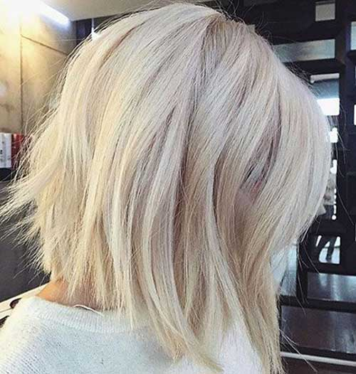 Platinum-Blonde-Medium-Bob-Hair Modern Short Blonde Hairstyles for Ladies