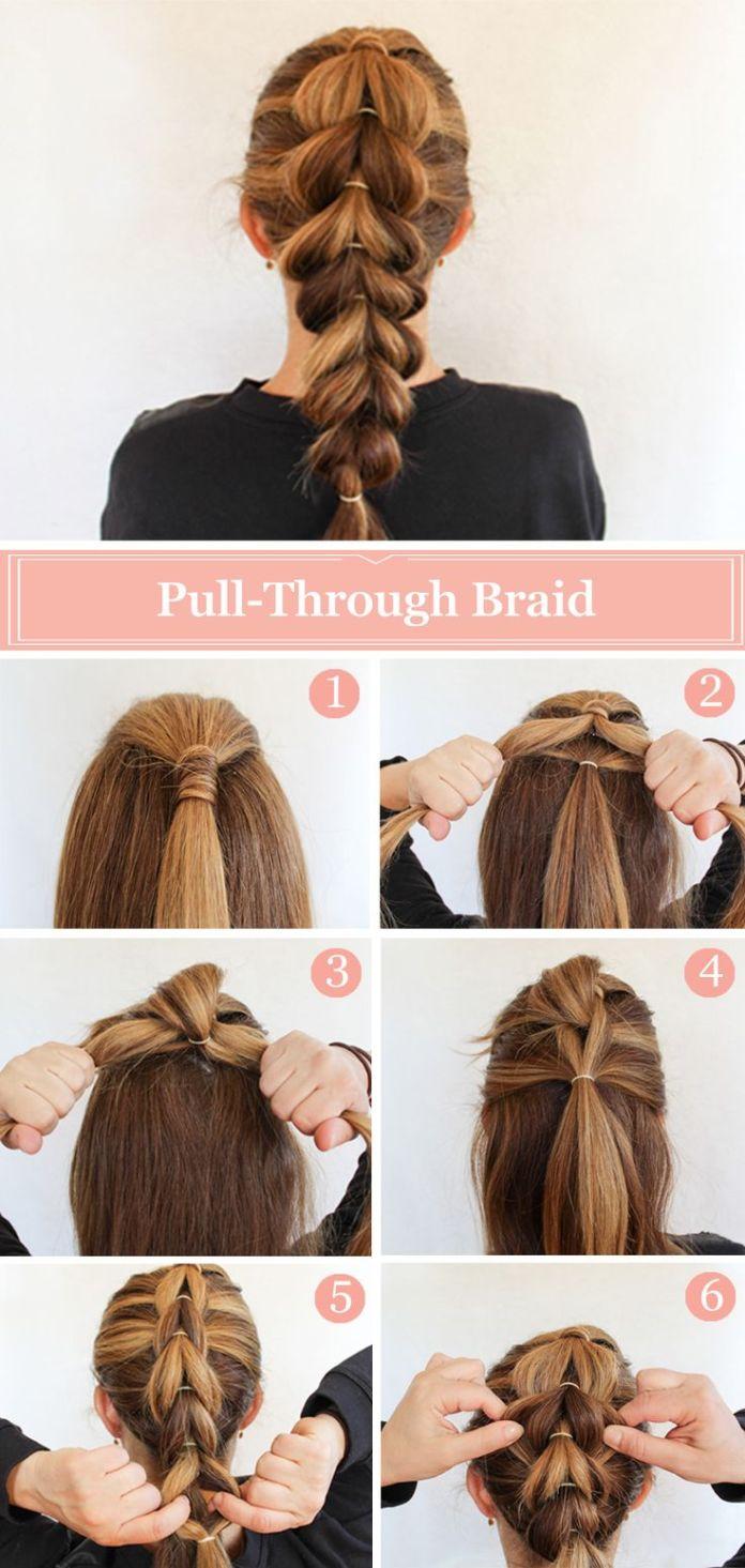 Pull-Through-Braid-Hairstyle-Tutorial Cute French Braid Hairstyles for Girls