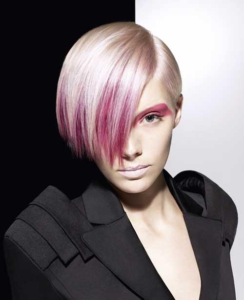 Punky-Short-Purple-Bob-Hair Best Punky Short Haircuts