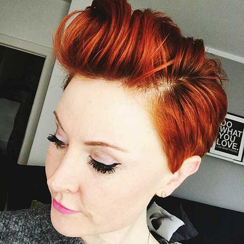 Red-Pixie-Hairstyle-Idea Eye-Catching Short Red Hair Ideas to Try