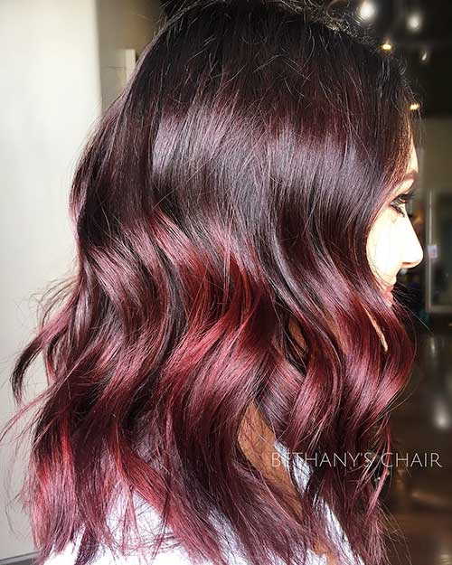 Red-Wine-Ombre Eye-Catching Short Red Hair Ideas to Try