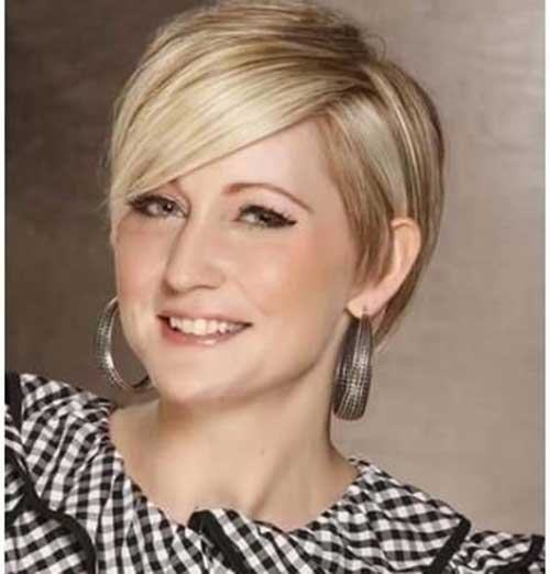 Short-Blonde-Hairstyle-for-A-Fat-Face Short Haircuts for Round Face Shape