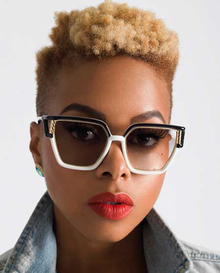 Short-Blonde-Thick-Curls Short Hairstyles for Black Women