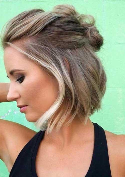 Short-Bob-Half-Up Latest Short Haircuts for Women - Short Hairstyle