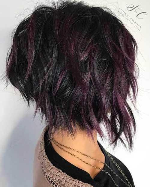 Short-Choppy-Textured-Bob Wavy Short Hair Styles for Chic Ladies