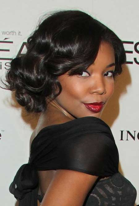 Short-Dark-Curly-Bob Nice Short Haircuts for Black Women