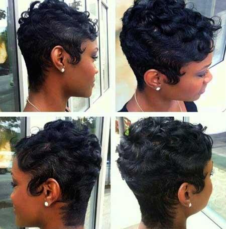 Short-Dark-Curly-Natural-Hair Short Hairstyles for Black Women