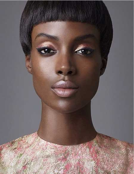 Short-Dark-Straight-Look Nice Short Haircuts for Black Women