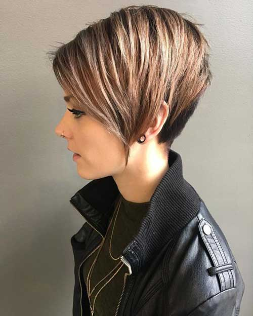 Short-Hair-Layer-V-Cut Latest Short Haircuts for Women - Short Hairstyle