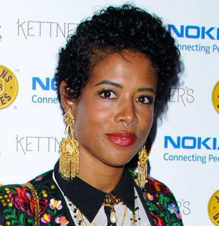 Short-Simple-Dark-Asymmetrical-Curly-Look Short Hairstyles for Black Women