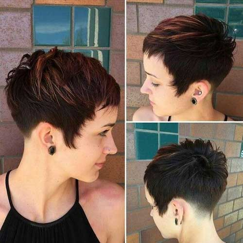 Short-Textured-Pixie-Haircut Charming Short Brunette Hairstyles