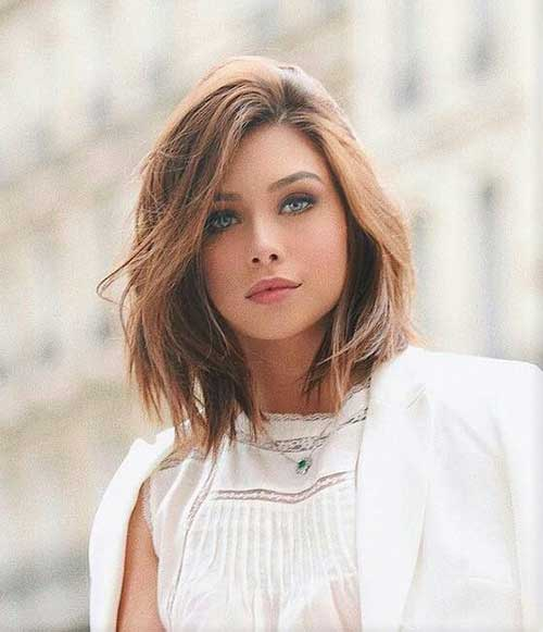 Short-To-Mid-Hair-Style-for-Round-Face Best Pics of Layered Short Hair for Round Face