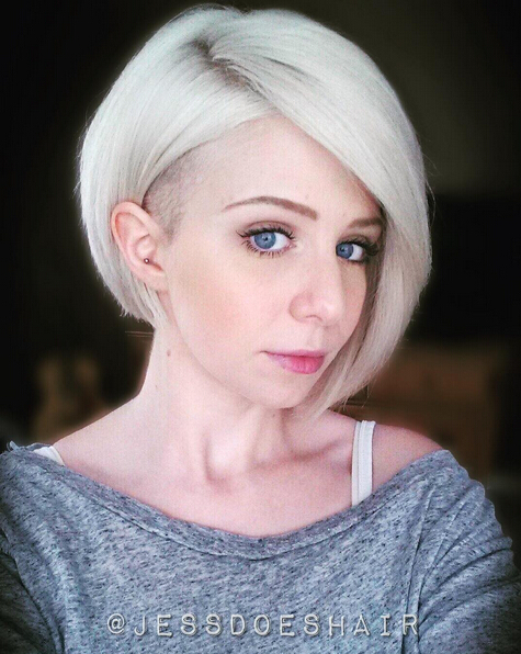 Short-Undercut-Bob-Hairstyle-1 Awesome Undercut Hairstyles for Girls