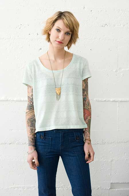 Short-Wavy-Cut New Short Blonde Hairstyles