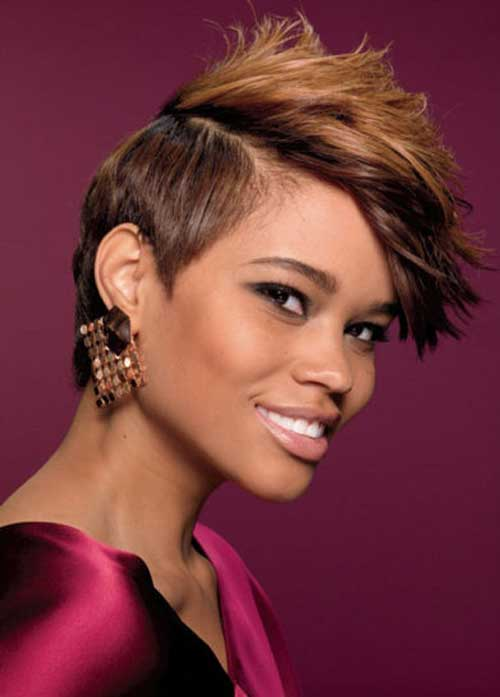 Short-choppy-hair-for-black-women Black Women with Short Hairstyles