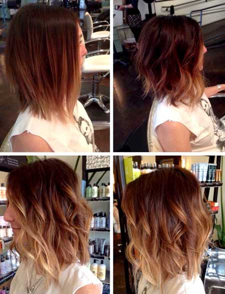 Side-View-of-Curly-Short-to-Medium-Hairstyle-for-Girls Short Wavy Hairstyles 2019