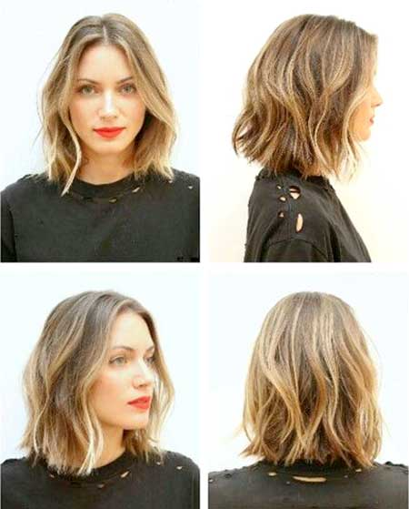 Simple-Side-Parted-Wavy-Hairstyle Short Wavy Hairstyles 2019