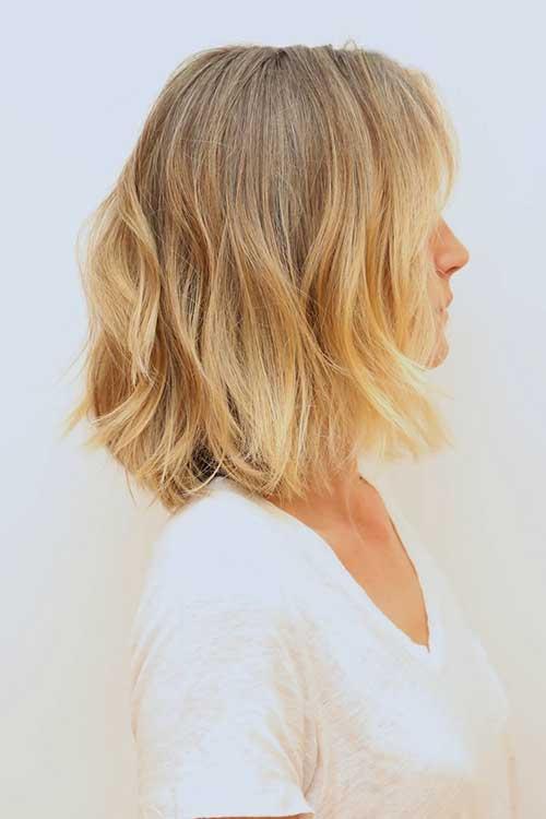 Soft-Blonde-Natural-Waves Short Medium Hairstyles 2019