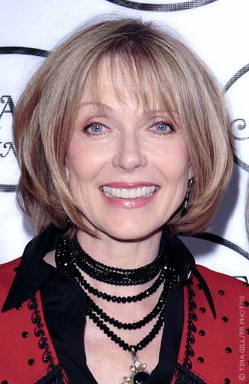Straight-Bob-Haircut-for-Older-Women Bob Hairstyles for Older Ladies