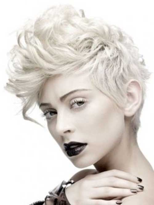 Stylish-Punk-Short-Curly-Hair-for-Girls Best Punky Short Haircuts