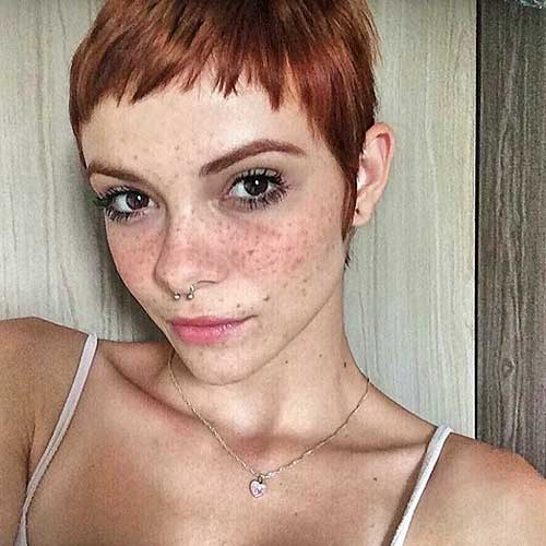 Super-Cute-Pixie Eye-Catching Short Red Hair Ideas to Try