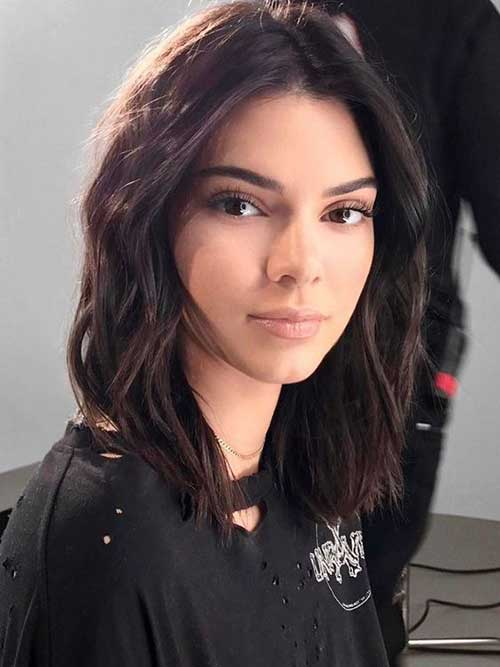 Textured-Bob-Haircut Kendall Jenner Short Hair Pics