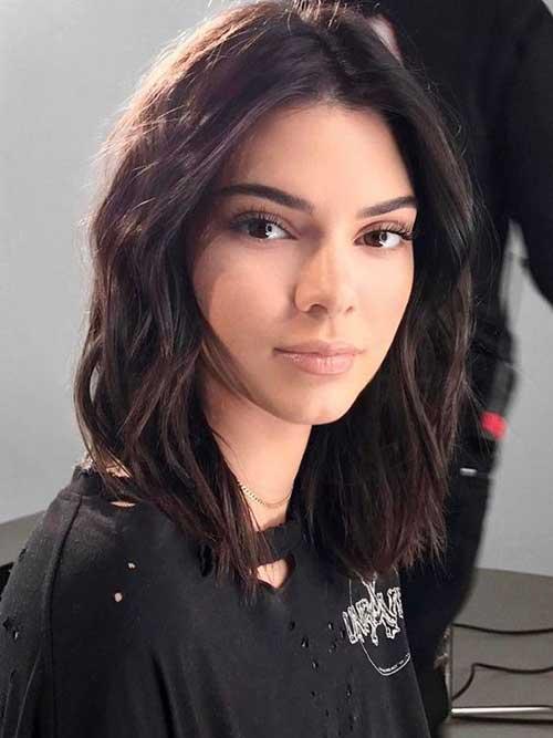 Textured-Bob-Haircut Kendall Jenner Short Hair Pics