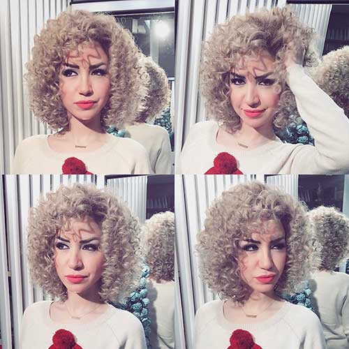 Thin-Curls Alluring Short Curly Hair Ideas for Summertime