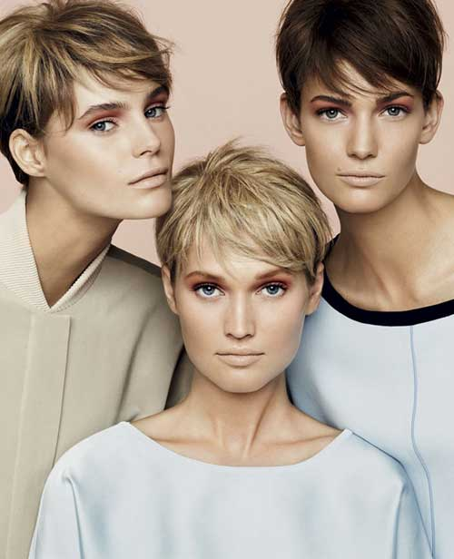 Trendy-short-hair-summer-2013 Best Pics of Layered Short Hair for Round Face