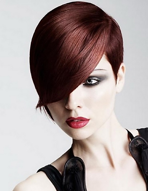 Trendy-short-haircut-with-bangs Very Short Haircuts with Bangs for Women