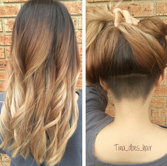 Undercut-Hairstyle-for-Long-Wavy-Hair Awesome Undercut Hairstyles for Girls