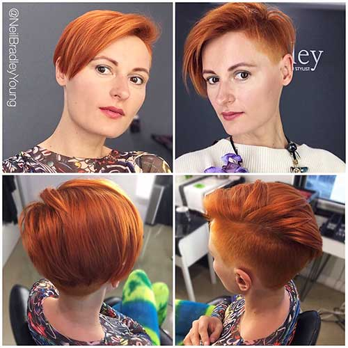 Undercut-Pixie Eye-Catching Short Red Hair Ideas to Try
