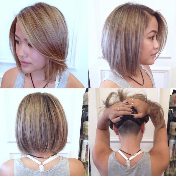 Undercut-Straight-Bob-Hairstyle Awesome Undercut Hairstyles for Girls