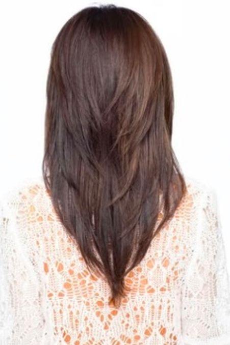 V-cut-Medium-Straight-Haircut Fantastic Easy Medium Haircuts 2019 – Shoulder Length Hairstyles