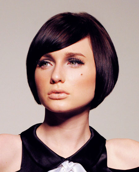 Very-Charming-and-Elegant-Classic-Bob-with-Pretty-Side-swept-Bangs Best Bob Hairstyles 2019