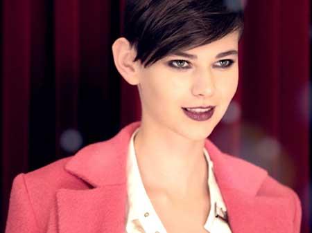 Very-Short-Dark-Pixie Short Trendy Hairstyles for Women