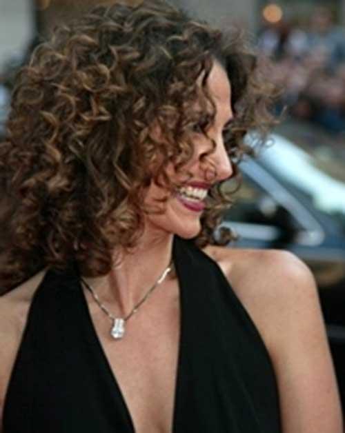Voluminous-Messy-Dark-Curly-Hair-Style Very Short Curly Hair 2019