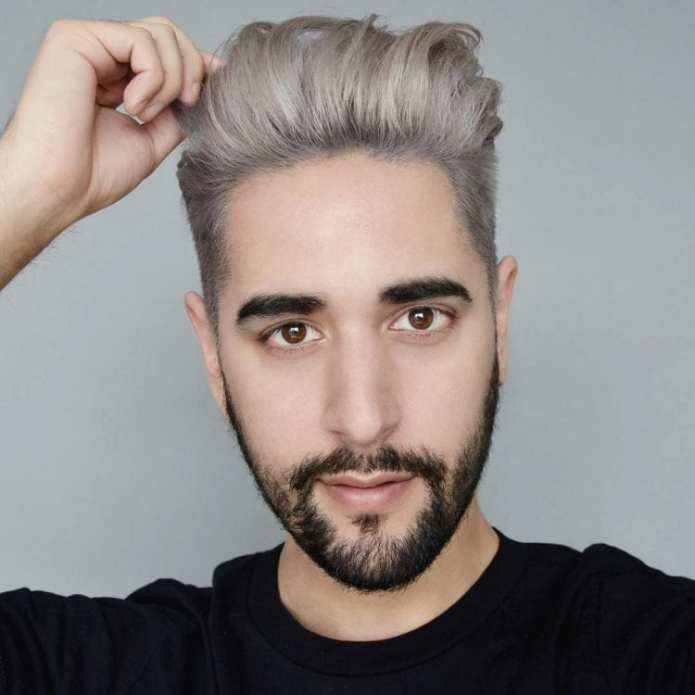 Washed-Out-Gray-Brush-Back Stylish Undercut Hairstyle Variations For 2019