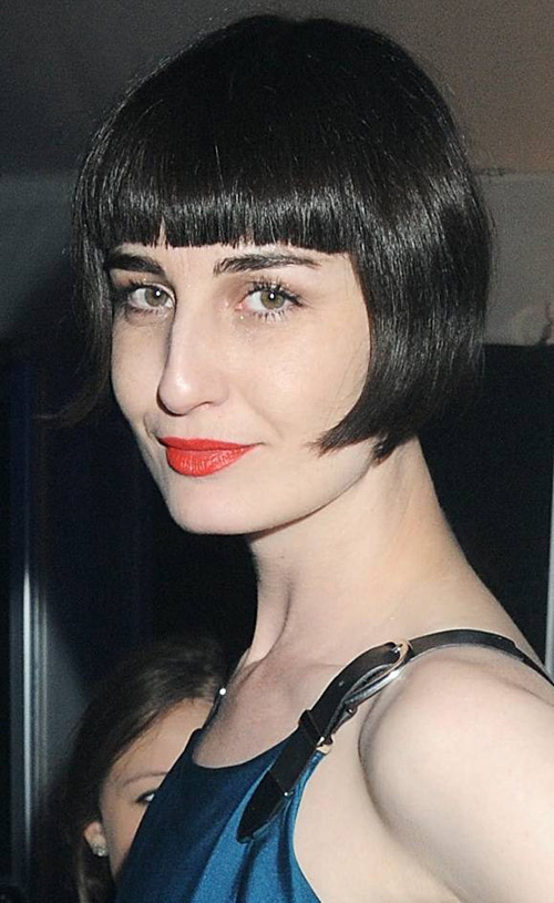 blunt-bangs-with-bob Very Short Haircuts with Bangs for Women