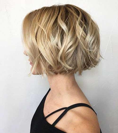 one-Length-Short-Hair Wavy Short Hair Styles for Chic Ladies